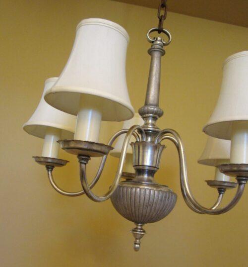 1920s silver chandelier.