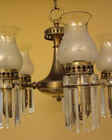 1930s Colonial set by Lightolier. ONE chandelier. THREE sconces
