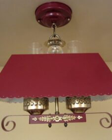 1940s red hanging light. More available.