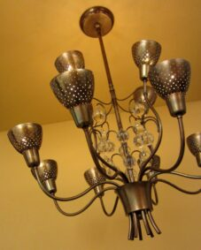 1950s Mid-Century high-quality chandelier. Wow.
