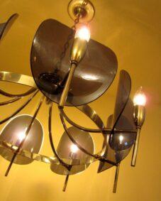 Dramatic Mid-Century chandelier by Feldman of LA.