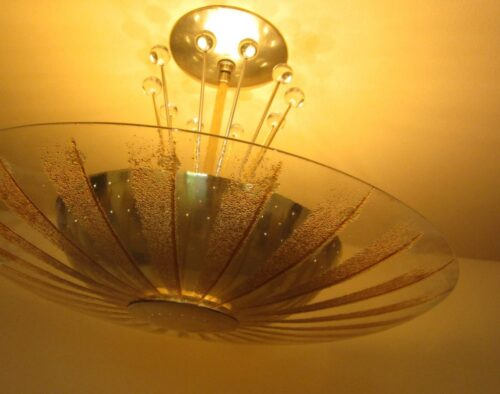 Extraordinary Mid-Century ceiling fixture by Lightolier.