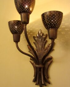 FIVE matching Mid-Century sconces. Wow. More available.