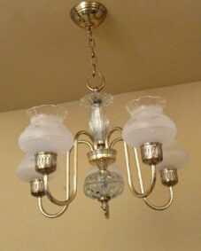 Mid-Century Colonial chandelier