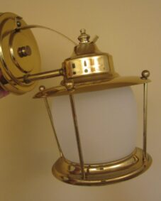 Never used Mid-Century porch sconce. More available.