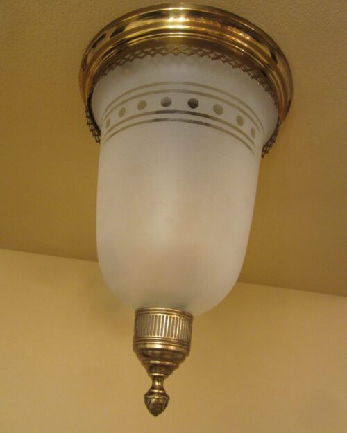 PAIR 1930s foyer/hall fixtures by Chase Brass.