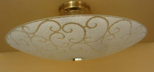 PAIR 1970s ceiling fixtures by Progress. Very cool.