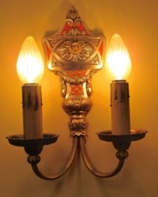 PAIR high-quality large exquisite 1920s sconces by Lion