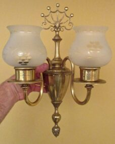 PAIR of 1930s sconces