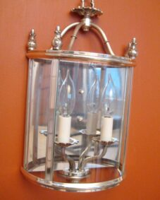 PAIR of 1970s silver sconces by Lightolier. Large. Never used.