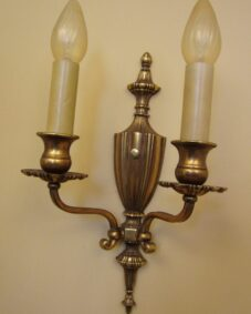PAIR of circa-1930 sconces. Elegant. High-quality. Large.