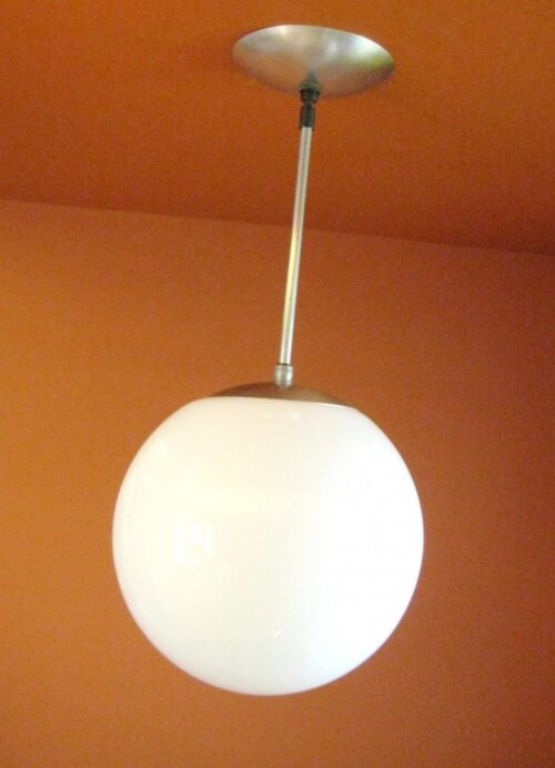 TEN matching 1950s mid-century 10-inch globe lights. More Available.