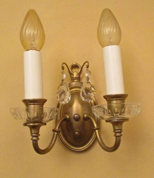 THREE 1920s Colonial-Revival sconces