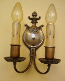 Vintage Sconces pair antique 1930s brass High quality Lovely details