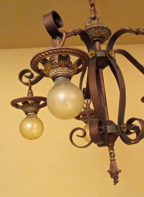 X Matched set by Markel. ONE chandelier. TWO sconces.